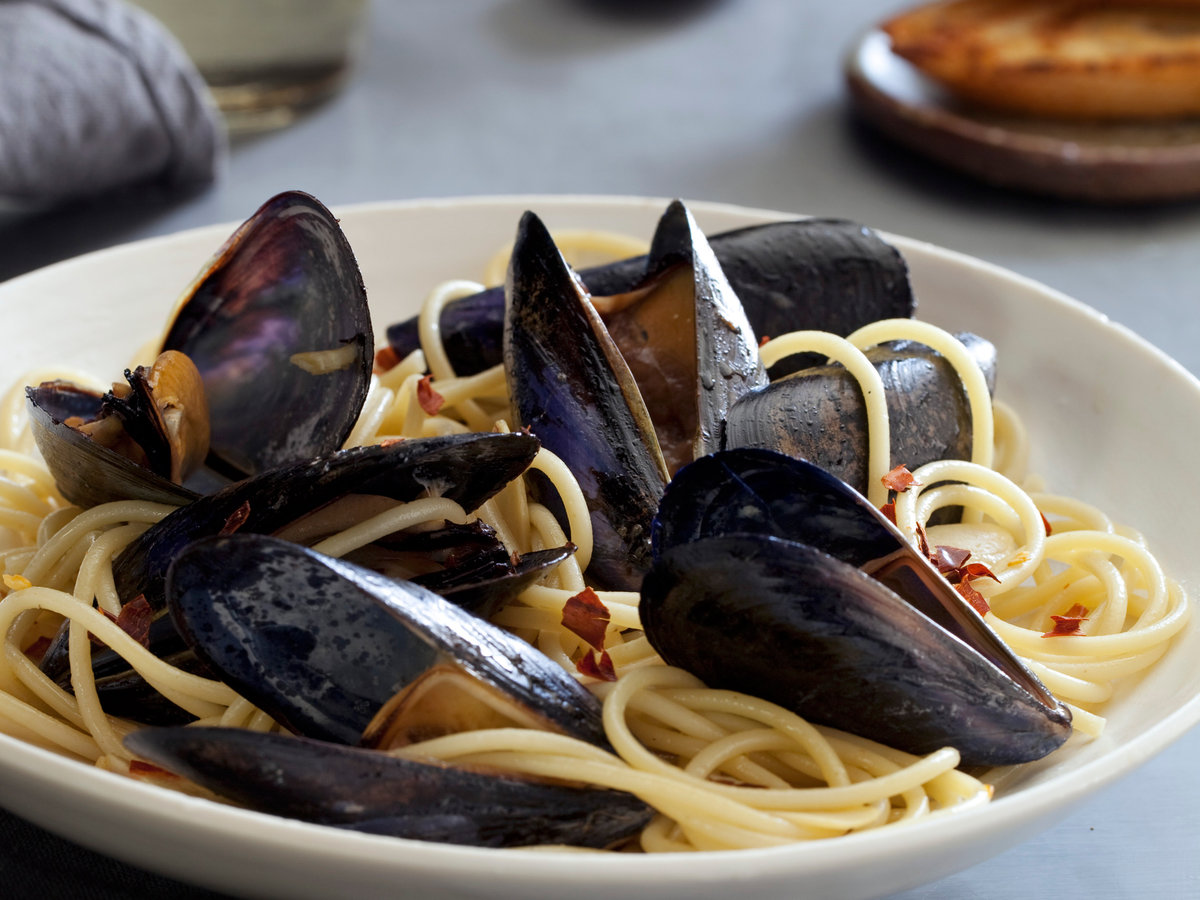 pasta with mussels recipe marcia kiesel food wine