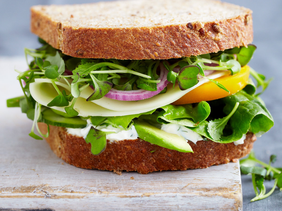 Vegetable Sandwich with Dill S...