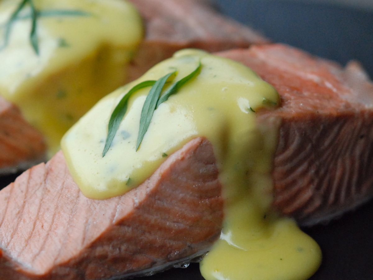 Poached Salmon With No Fail Hollandaise Recipe Andrew Zimmern