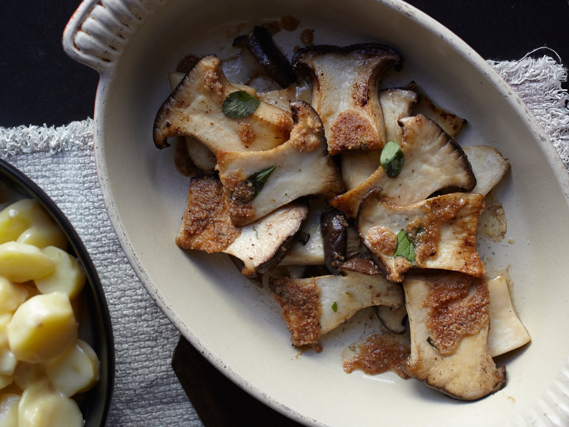 Roasted King Oyster Mushrooms Recipe | Food & Wine