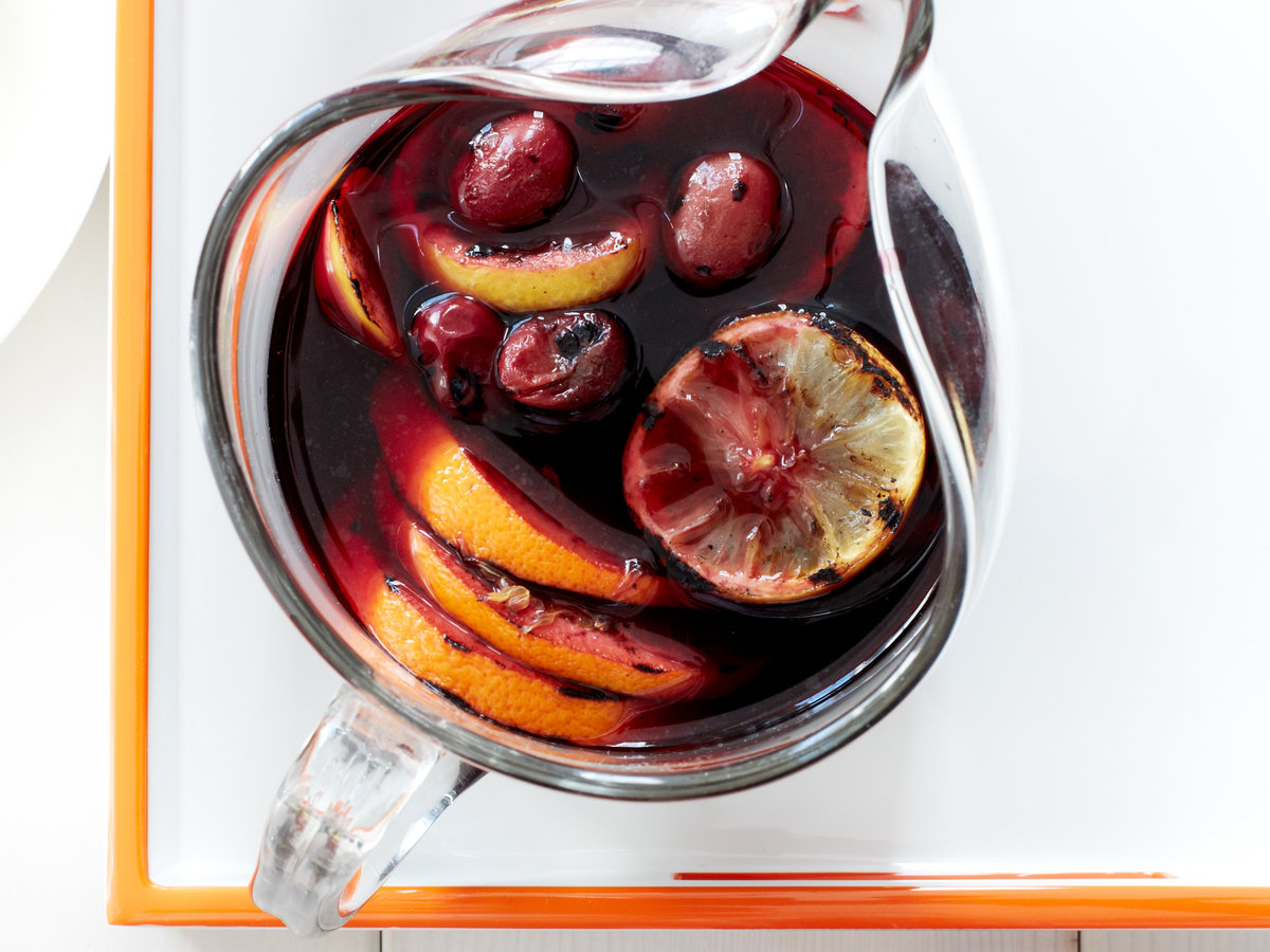 May 31: Grilled Citrus and Grape Sangria