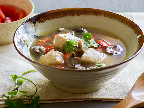 Thai hot and sour fish soup recipe quick from scratch for Thai fish soup