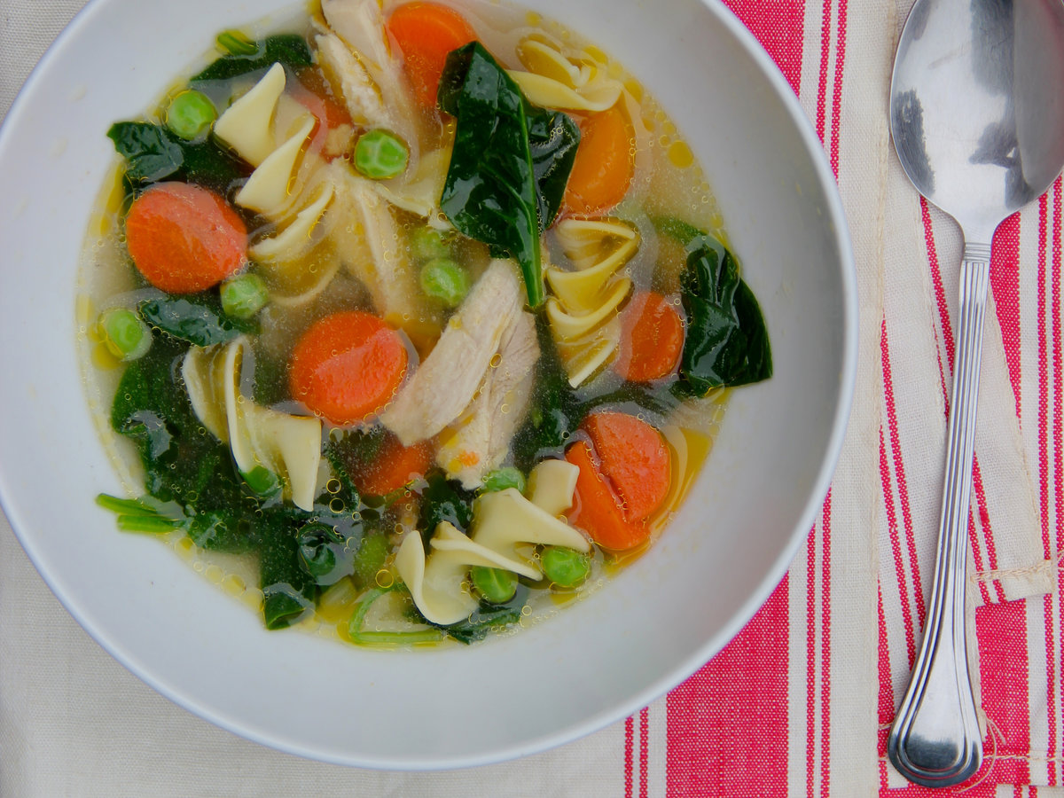 how to cook vegetable chicken soup