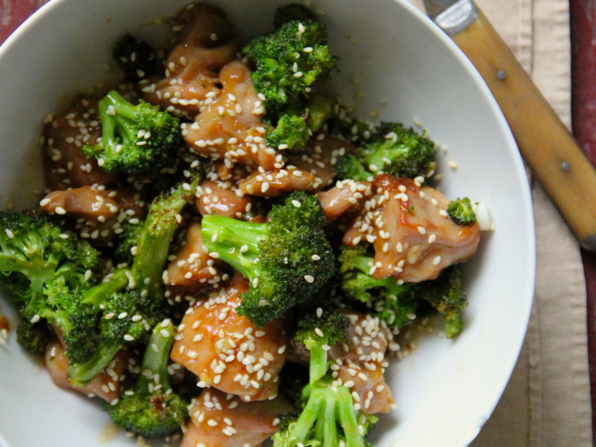 Sesame Chicken And Broccoli Recipe - Ian Knauer  Food  Wine-1091