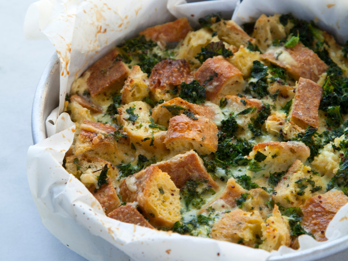 Strata Recipes kale strata recipe - sarah bolla | food & wine