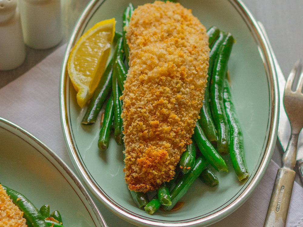 Crispy baked tilapia recipe emily farris food wine for How to bake tilapia fish in the oven