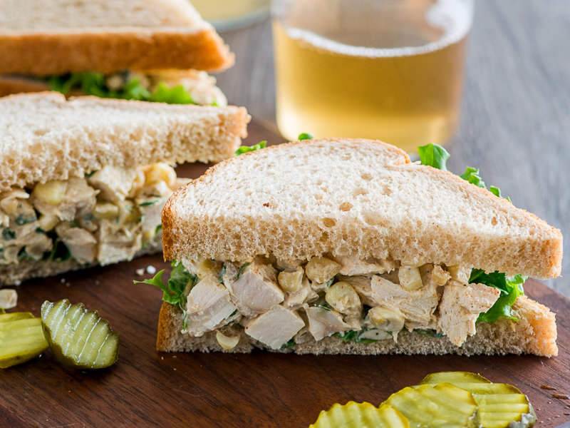 Chicken And Corn Salad Sandwich Recipe Todd Porter And Diane Cu