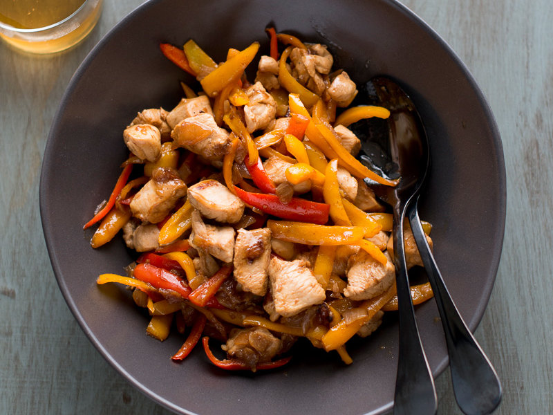 Lemon Zest Chicken Stir Fry With Sweet Peppers Recipe Todd Porter And Diane Cu Food Amp Wine