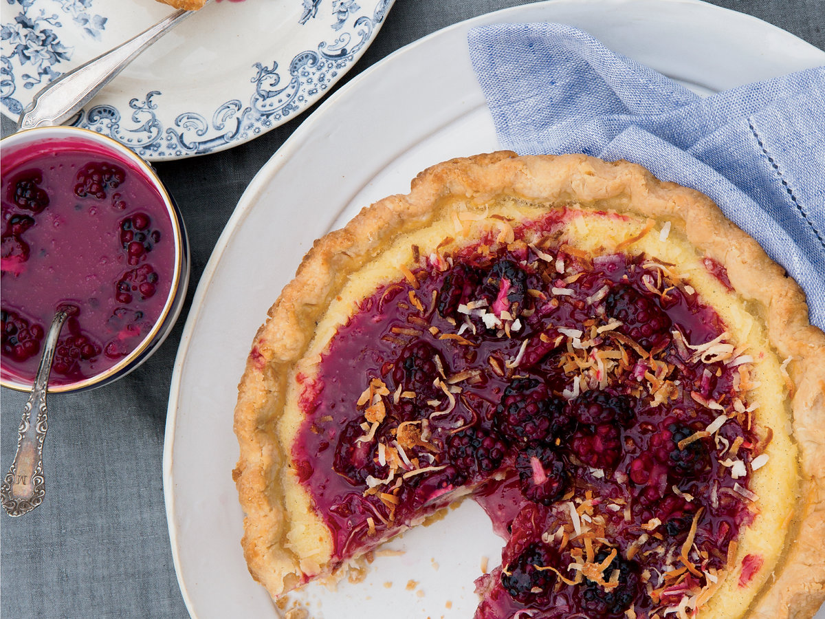 Coconut-Buttermilk Pie with Blackberry Caramel Recipe ...