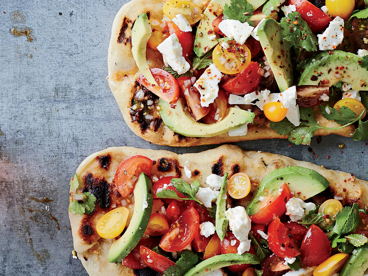 Day 3: Avocado, Feta and Cherry Tomato Salsa Flatbreads