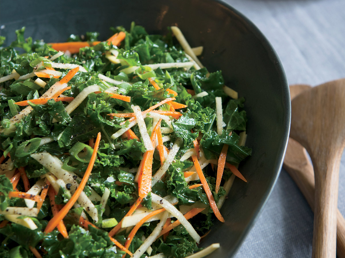 Kale Salad with Root Vegetables and Apple Recipe - Marcus ...