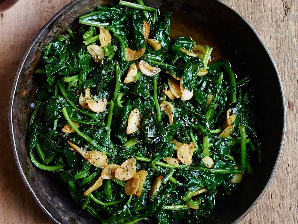Saut 233 Ed Spinach With Lemon And Garlic Olive Oil Recipe
