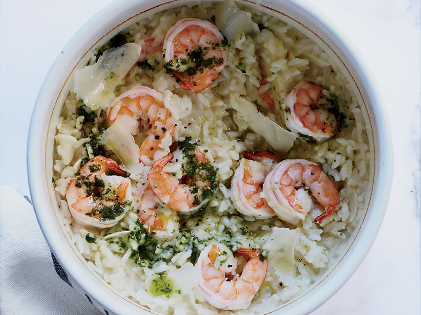 Baked Shrimp Risotto