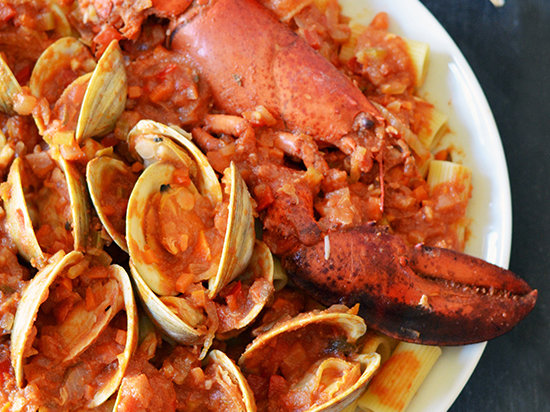 Clams and Lobster Enchilada