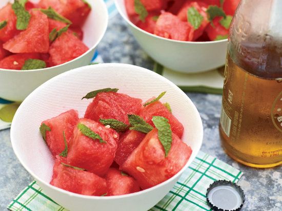 Watermelon Salad with Mint and Lime