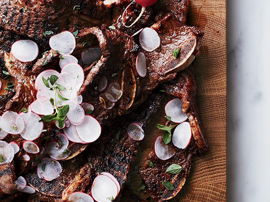 Grilled Short Ribs with Smoky Blackberry Barbecue Sauce