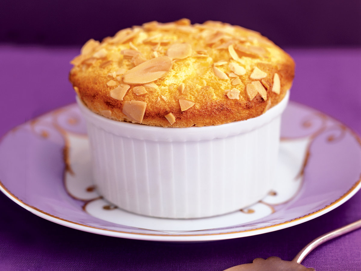 Apricot and Almond Soufflés