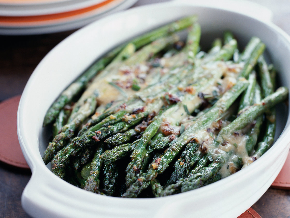 Asparagus Glazed with White Truffle Fondue