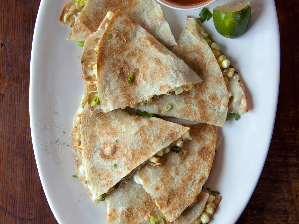 Sweet Corn-Epazote Quesadillas