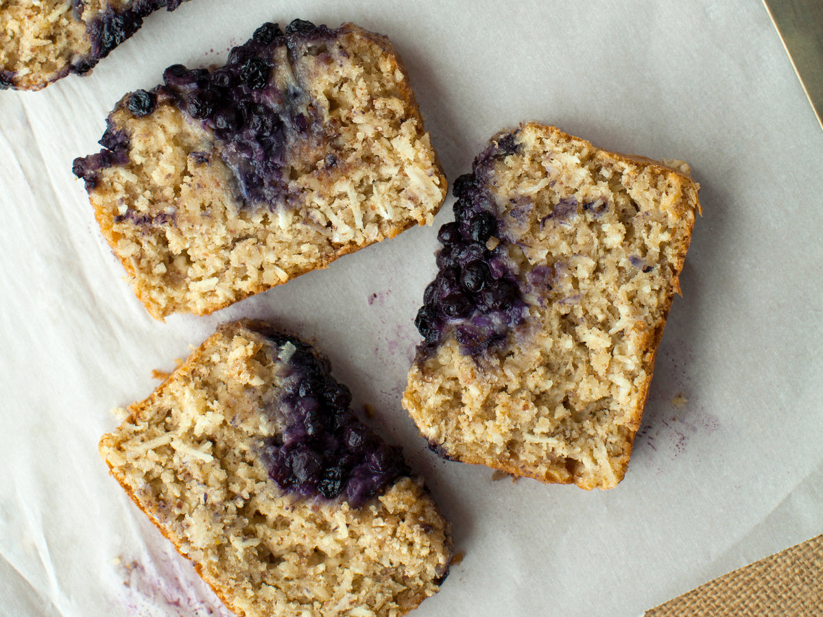 Wild Blueberry-Coconut Pumpkin Bread