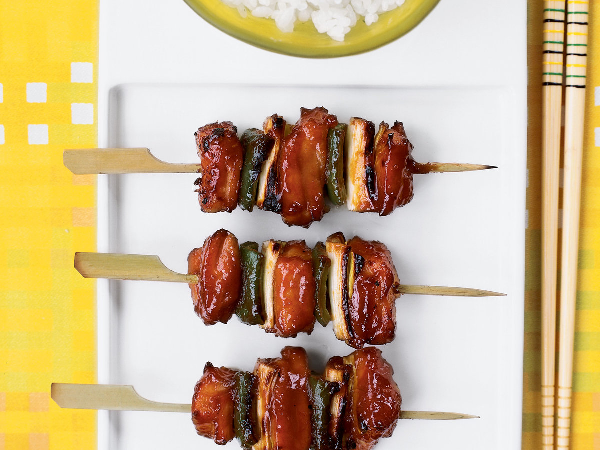 Chicken and Leek Yakitori