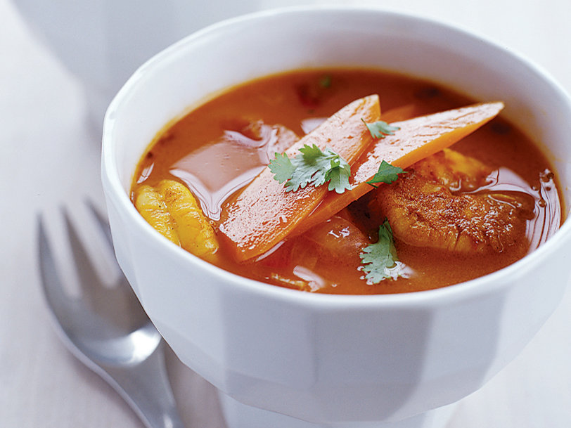 Curried Shrimp and Carrot Bouillabaisse