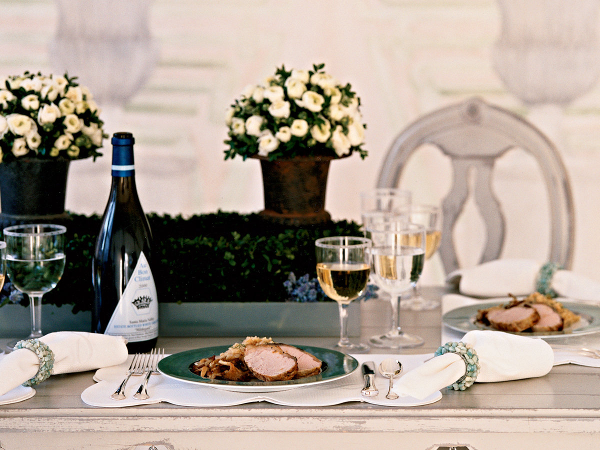 Easter Veal Loin with Fennel-Lima Bean Puree