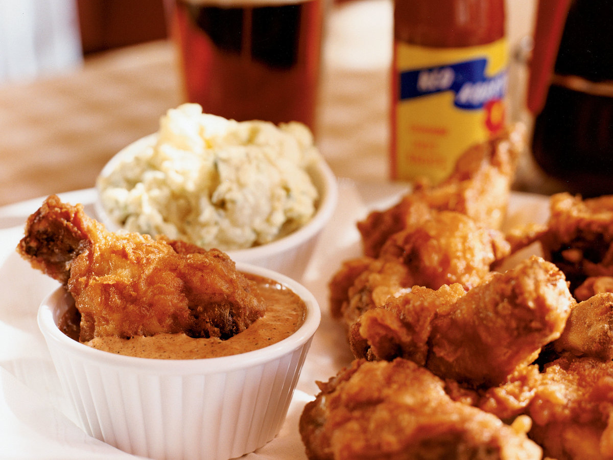 Fried Chicken Littles with All-American Potato Salad