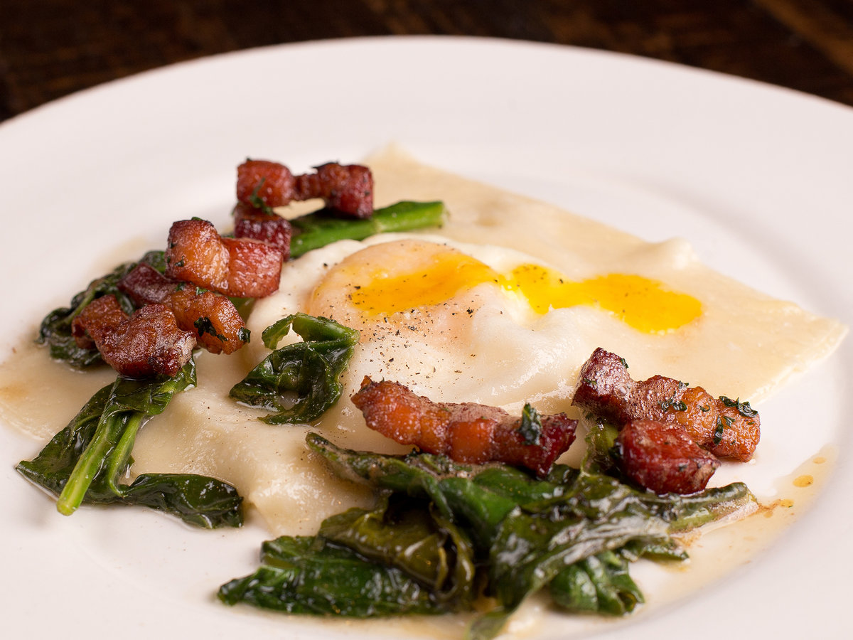 FWX BACON AND EGG RAVIOLI BRUNCH