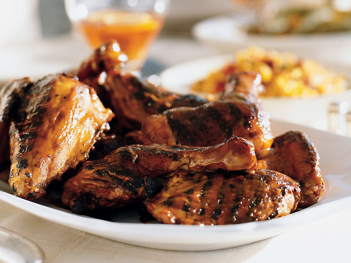 Grilled Chicken with Sweet Mustard Barbecue Sauce