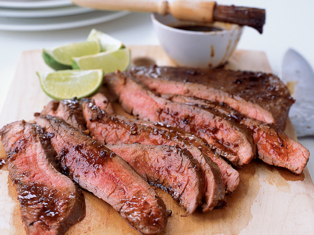 Grilled Flank Steak with Soy-Chile Glaze Recipe - Tom ...