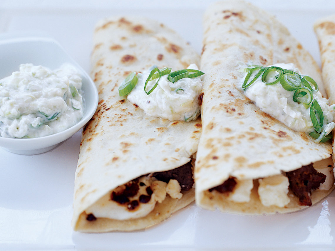 Lamb and Two-Cheese Quesadillas