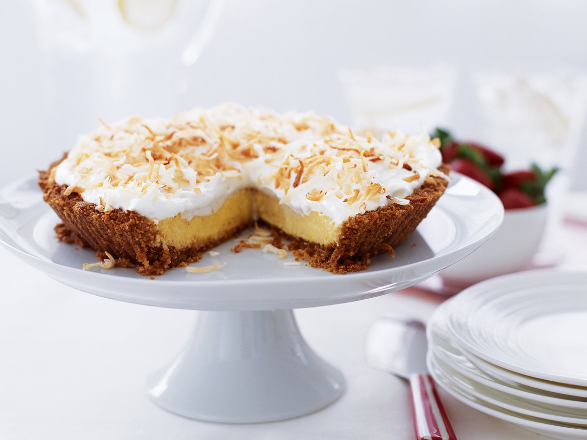 Lemon-Coconut Tart with Brown-Sugar Cream