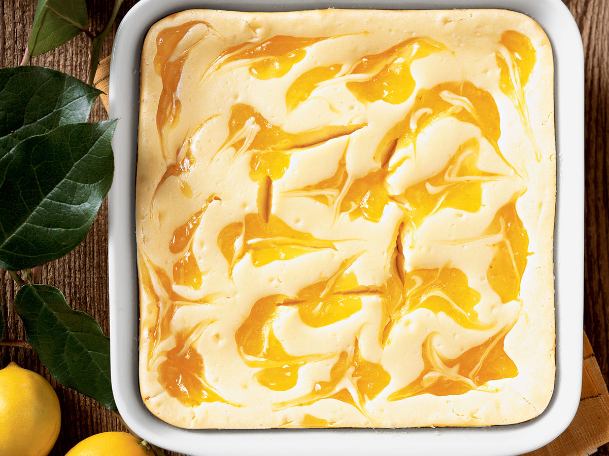 Lemon Ripple Cheesecake Bars