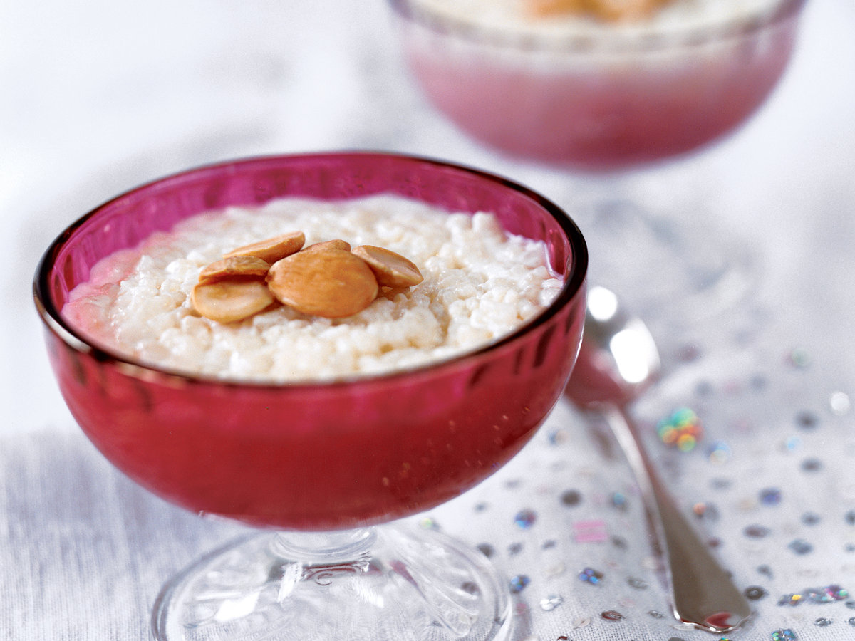 Moroccan Rice Pudding with Toasted Almonds