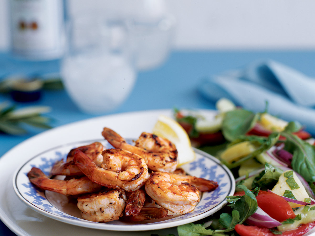 Pan-Fried Shrimp with Lemon and Ouzo