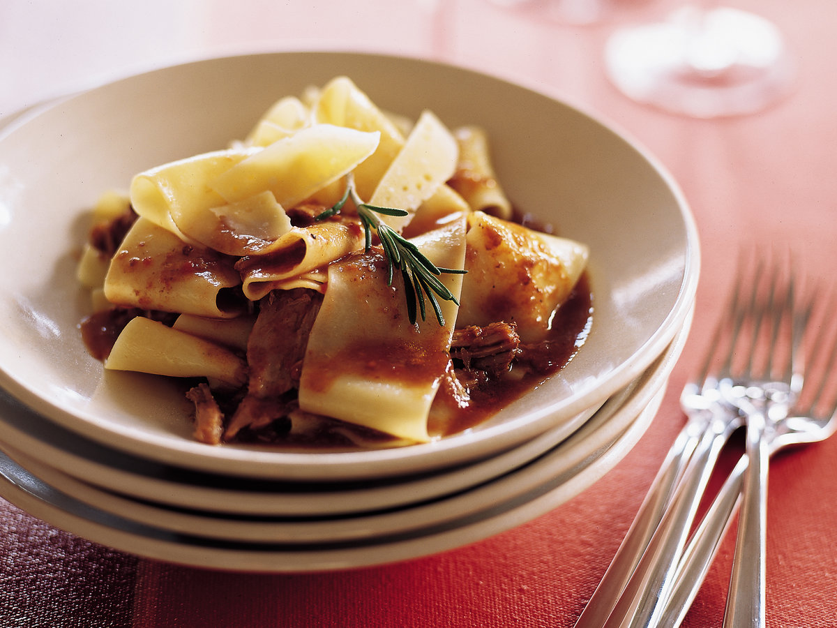 Pappardelle with Tangy Veal Ragù