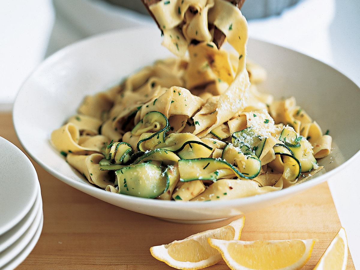 Pappardelle with Zucchini, Anchovies and Mint