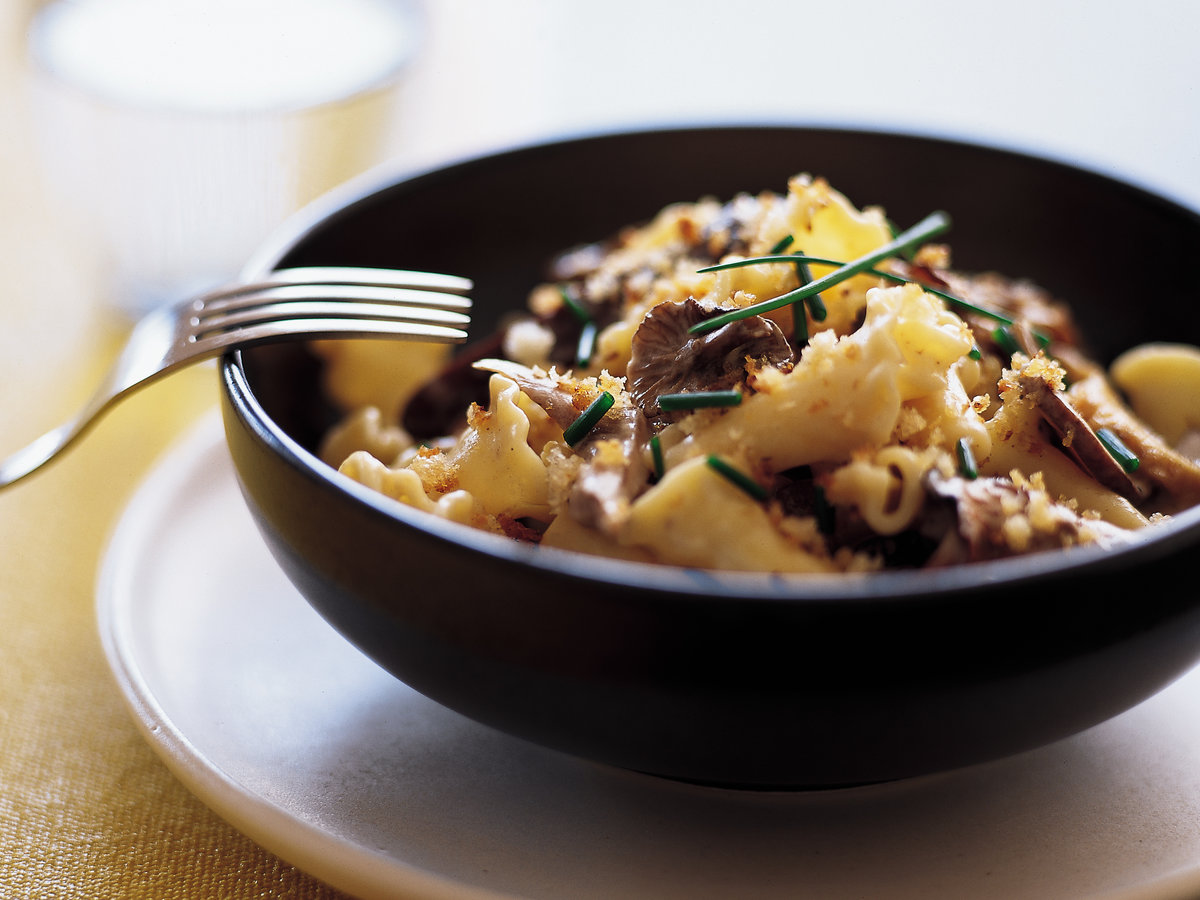 Pasta with Mushrooms and Mascarpone