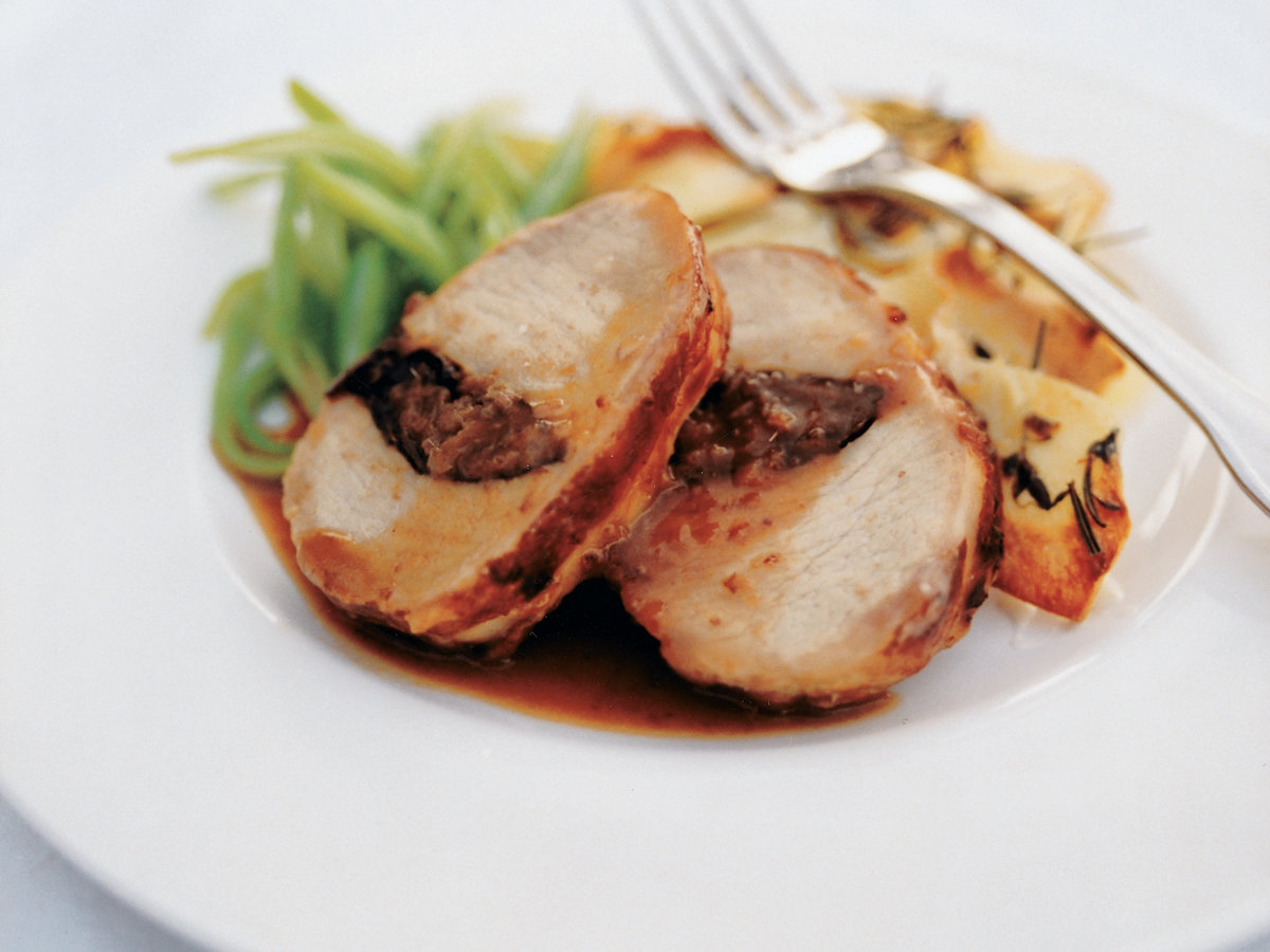 Port-Marinated Pork with Prunes and Anchovies