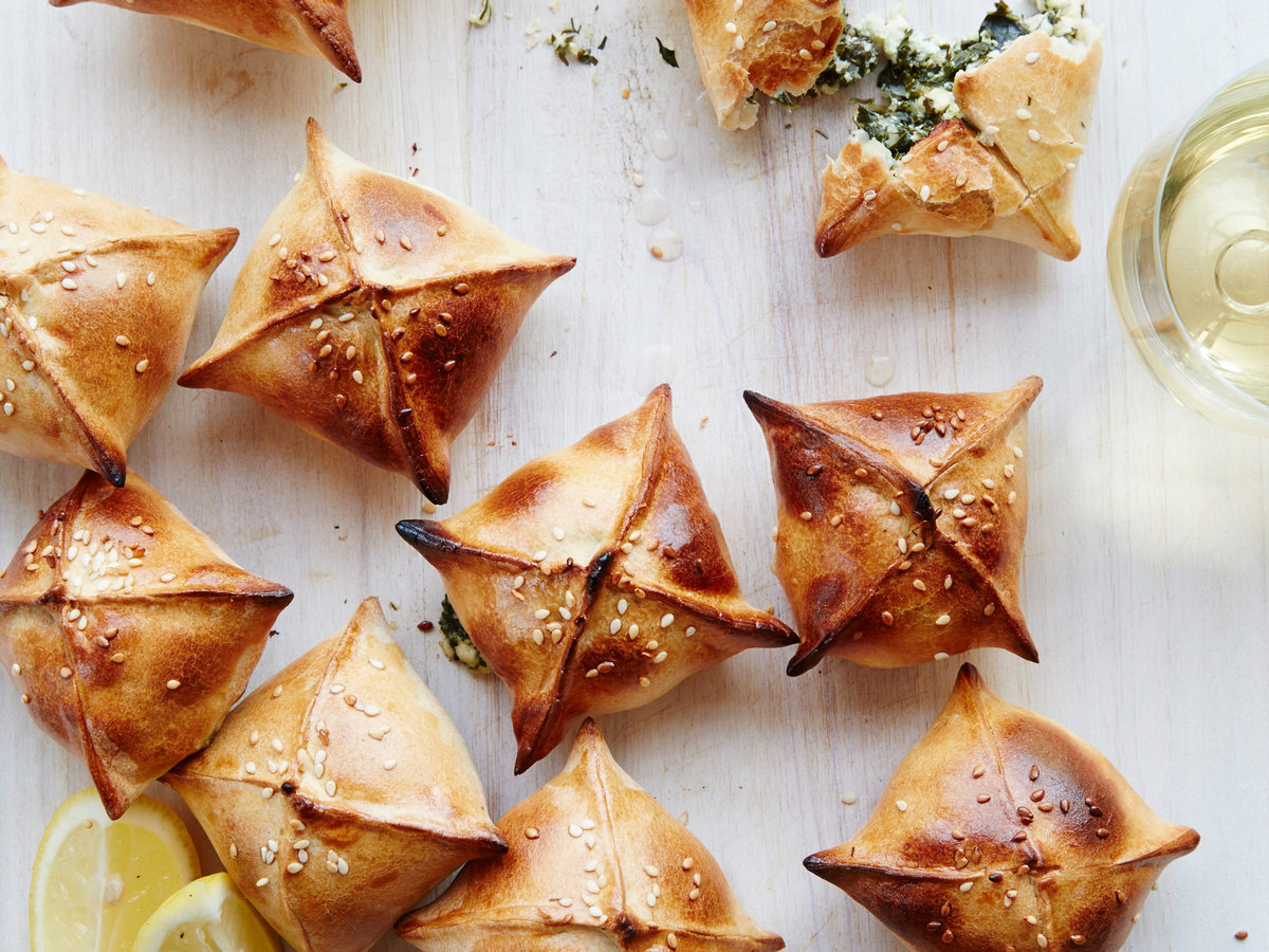 Mini Spinach-and-Herb Pies