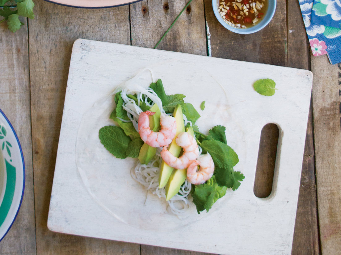 Shrimp-And-Avocado Summer Rolls