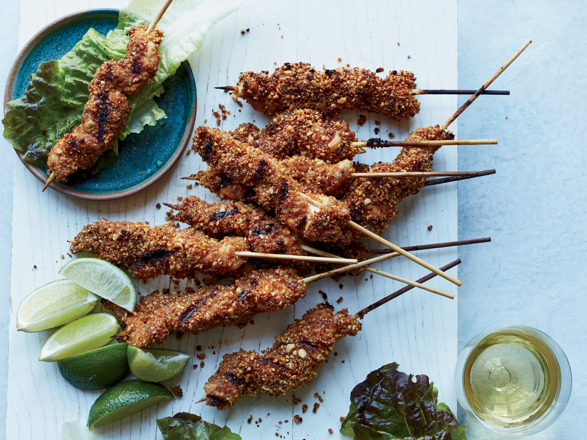 West African Chicken Kebabs