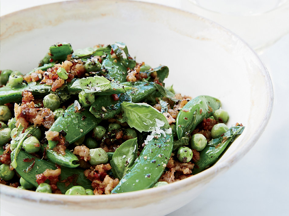 Double Pea Sauté with Ground Pork
