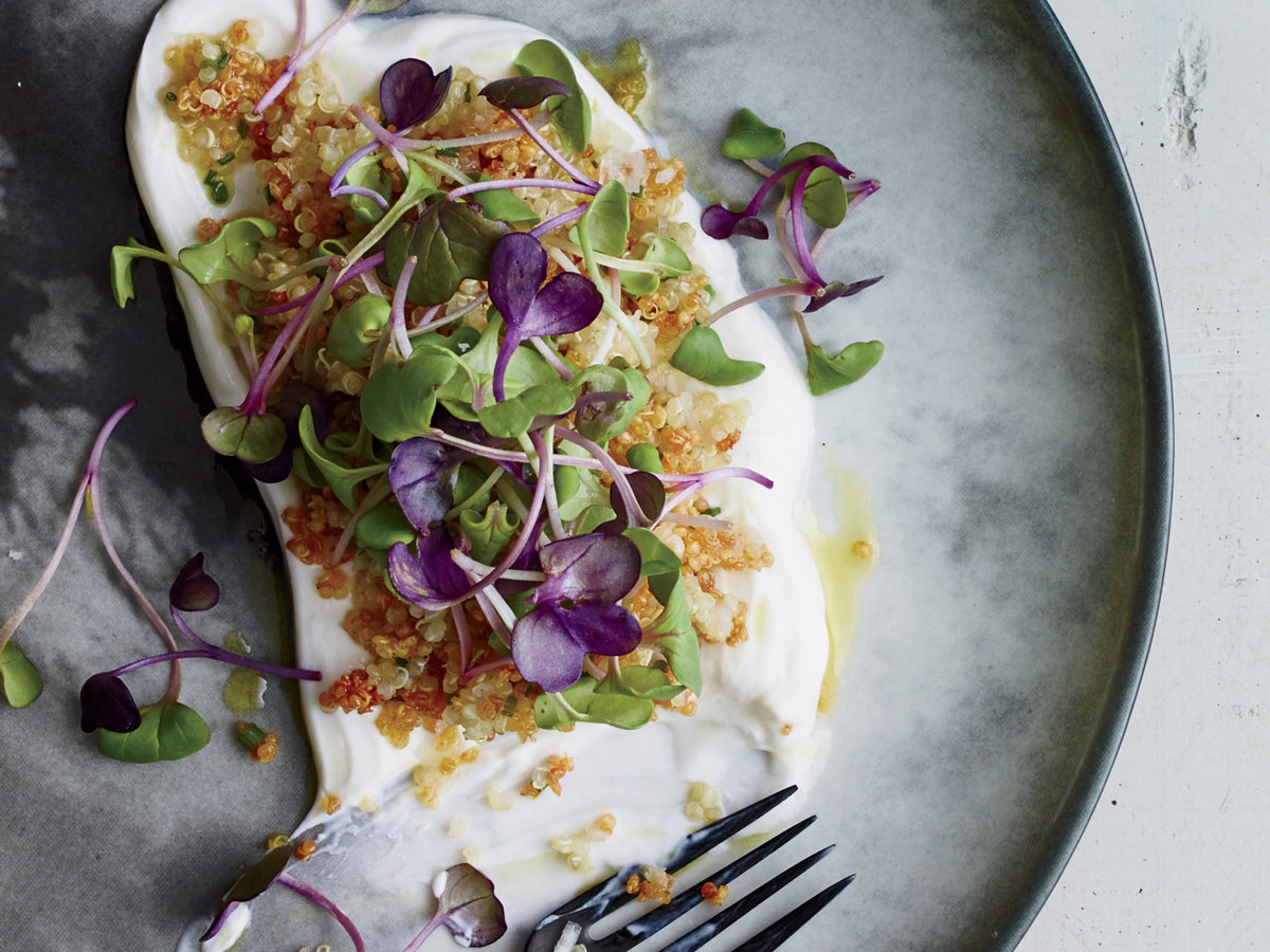 Quinoa with Yogurt and Sprouts