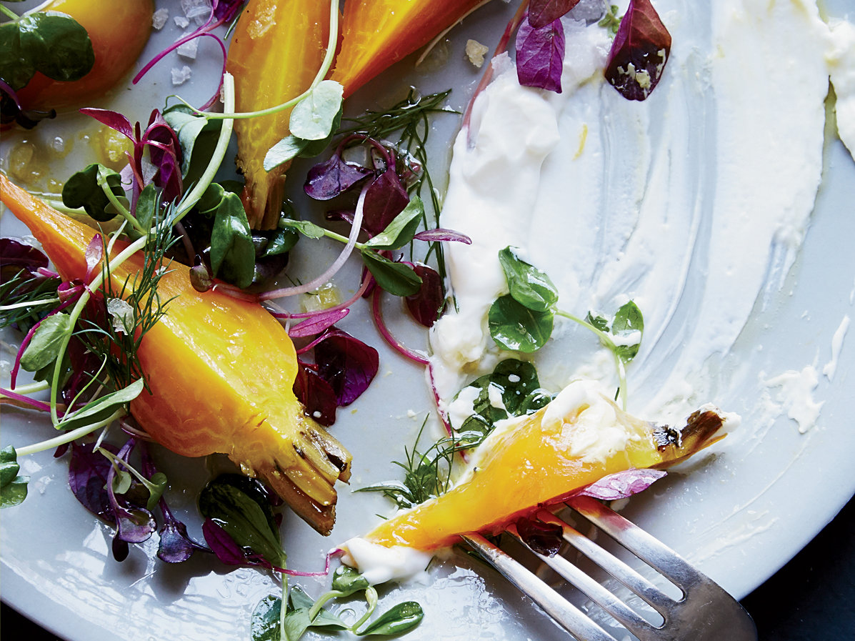 Roasted Beets with Salted Yogurt and Herbs