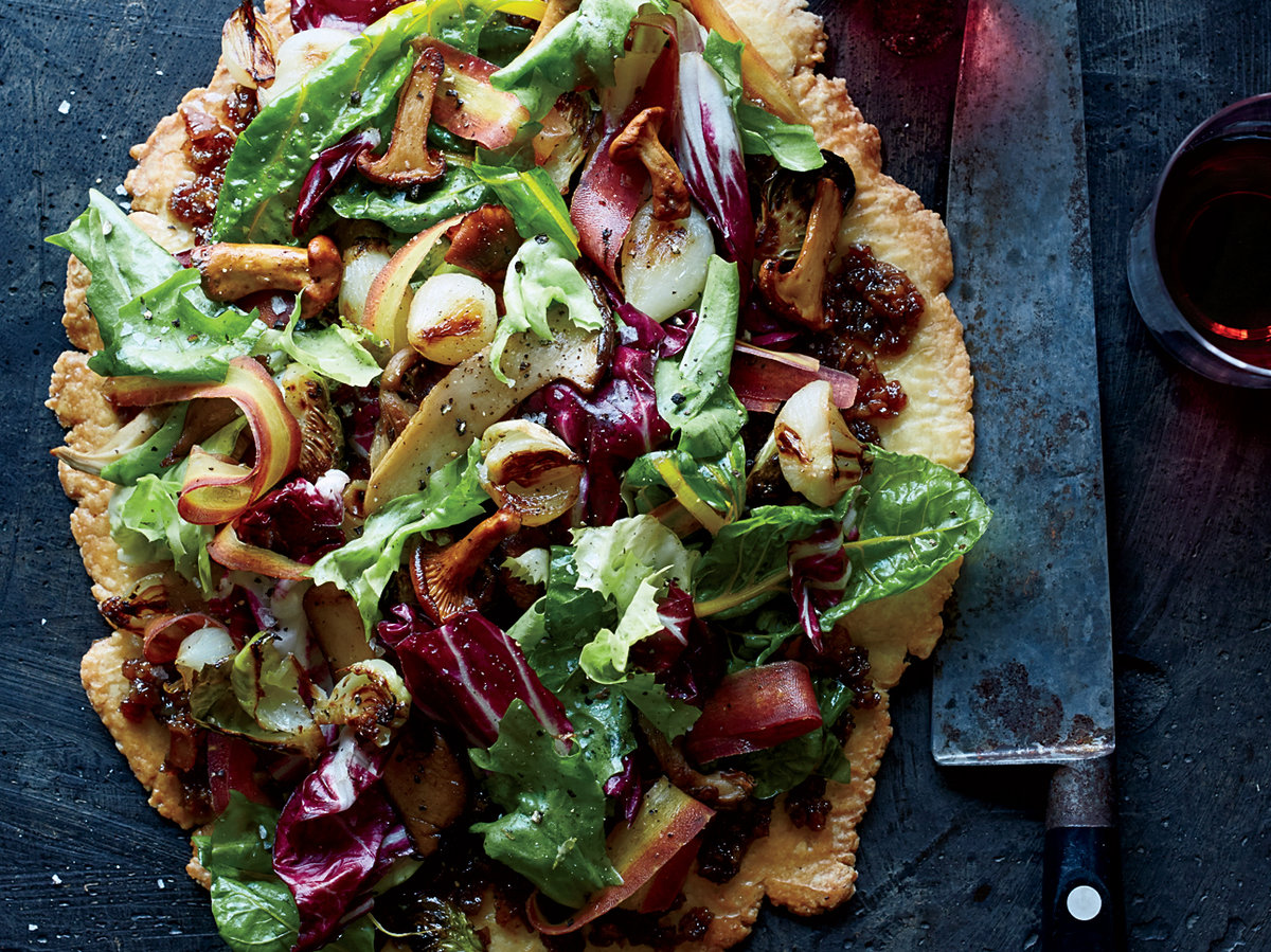 Free-Form Autumn Vegetable Tart with Bacon Marmalade