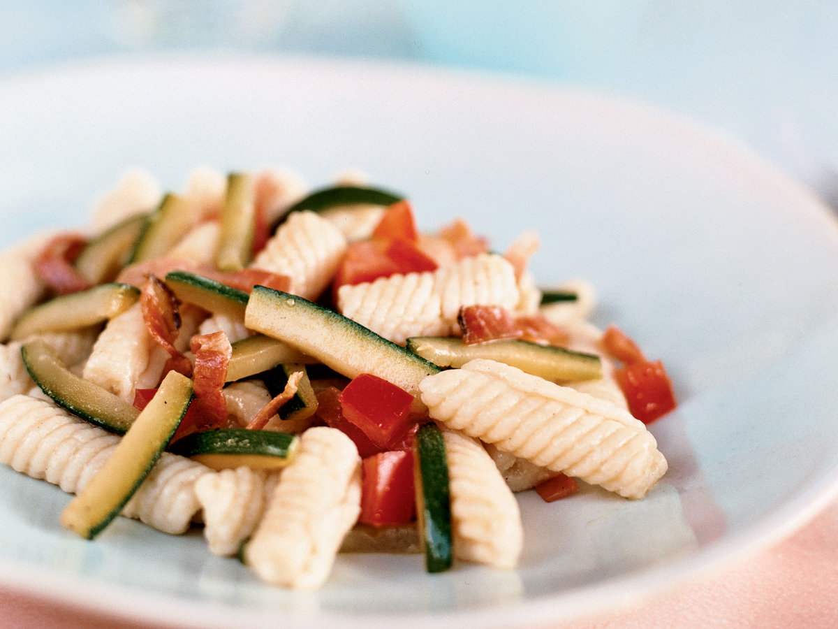 Ricotta Cavatelli with Bacon and Zucchini