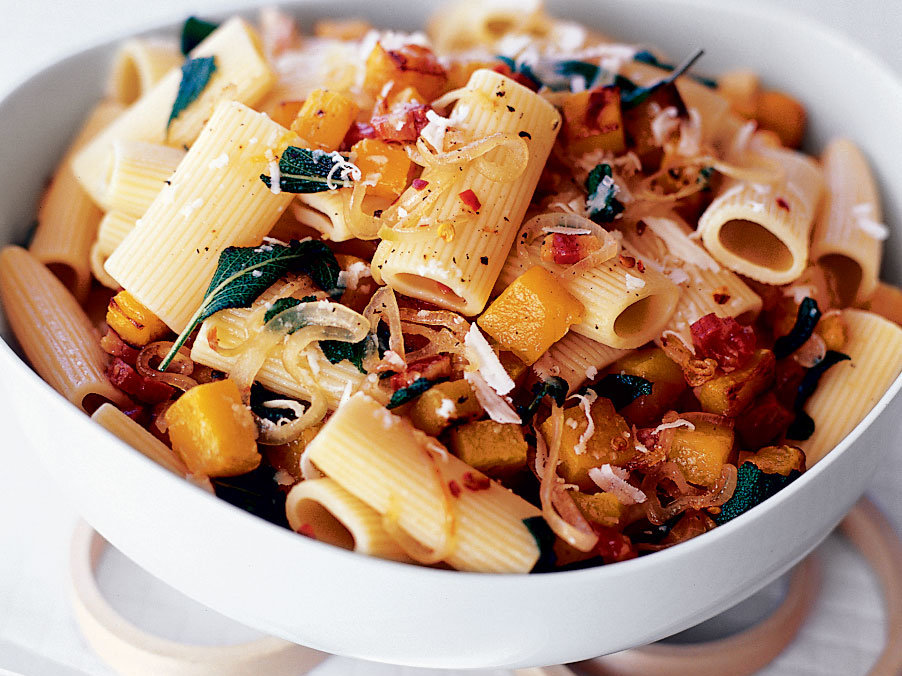 Rigatoni with Roasted Butternut Squash and Pancetta