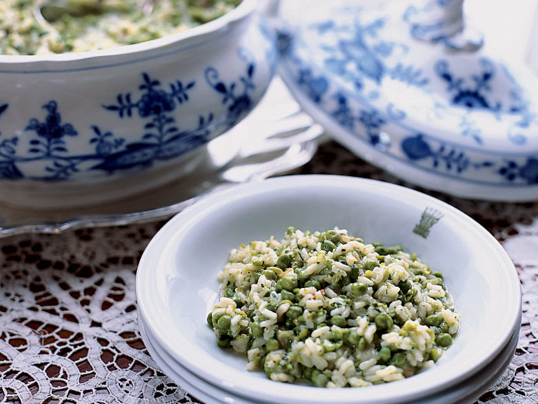 Risi e Bisi with Pancetta